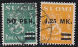 Finland    .     Yvert      168/169          .          O        .        Gebruikt    .   /   .     Cancelled
