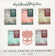 Gegen Malaria-Mücke 1962 Afghanistan Block 25 B ** 12€ Imperf. Antimalaria Hojita Bloc Nature S/s Sheet Bf Afghanes - Afghanistan