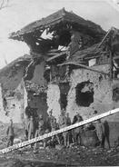 60 PIMPREZ / CARTE PHOTO / AVRIL 1917 / NOS DEBUTS DANS LA ZONE DEMOLIE / SOLDATS FRANCAIS / REPLI ALLEMAND / 11e ??? - Frankrijk