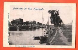 IAJ-12  Recuerdo De San Fernando. Canal, Barca. Used. To France In 1902. Pionier - Argentina