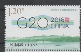 CHINA ,2016, MNH,G20 SUMMIT, HANGZHOU, BOATS, BRIDGES,1v - Bateaux