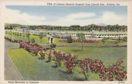 Military View Of Lawson General Hospital From Carroll Avenue Atlanta Georgia Curteich - Other