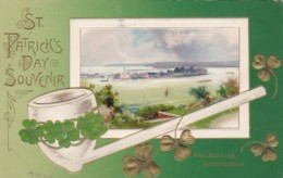 Saint Patrick's Day With Haulbouline Queenstown And Pipe 1910 - Saint-Patrick's Day