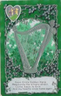 Saint Patrick's Day With Shamrocks And Silver Harp 1910 - Saint-Patrick's Day