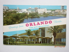 Postcard Orlando Florida Skyline From Lake Eola Park & Martin Plant My Ref B1750 - Orlando