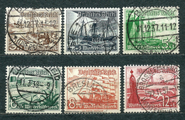 Deutsches Reich 1937, From Set MiNr 651-659, Used (1) - Lot Of 6 Stamps - Nice Postmarks - Oblitérés