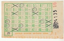 Slovakia??? * Old Lottery Ticket - Billets De Loterie
