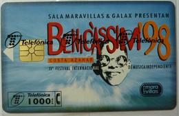 SPAIN - Chip - 1000 Units - Benicassim - P-346 - 07.98 - 12501ex - Mint Blister - España