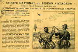 NORD    /   59   / LILLE  /  COMITE NATIONAL DU PIGEON VOYAGEUR      CPA 9 X 14 - Lille
