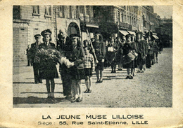 NORD    /   59   / LILLE  /  LA JEUNE MUSE LILLOISE     CPA 9 X 14  DOS BLANC - Lille