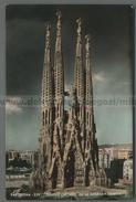 U6973 BARCELONA TEMPLO EXP. NACIONAL DE LA SAGRADA FAMILIA ACQUERELLATA FP (m) - Barcelona
