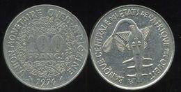 WEST AFRICAN STATES - ETATS DE L'AFRIQUE DE L'OUEST 100 Francs 1976 - Monnaies