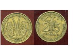 FRENCH WEST AFRICA - AFRIQUE OCCIDENTALE FRANCAISE 25 Francs 1957 - Monnaies