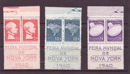 BRESIL 1940 EXPO NEW-YORK  YVERT N°374/76  NEUF MNH** - Brazil
