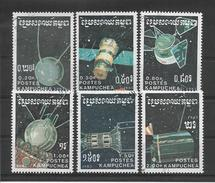 KAMPUCHEA  1987  ESPACE  INCOMPLET  6 /7 Oblitérés   LOT B