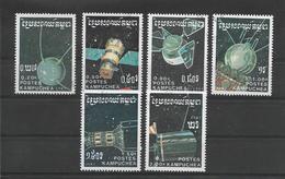 KAMPUCHEA  1987  ESPACE  INCOMPLET  6 /7 Oblitérés   LOT A