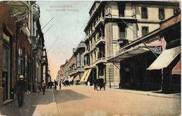 Alexandrie - Rue Tewfik Pascha - Ed. Lichtenstern & Harari - Carte Non Circulée - Alexandrie
