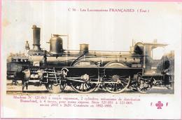 LES LOCOMOTIVES FRANCAISES - Machine N° 121 065 à Simple Expansion Construite En 1892/1895  - VAN4 - - Trains