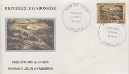 Enveloppe  FDC  1er   Jour    GABON   Préhistoire    1991 - Préhistoire