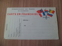 Carte En Franchise  Correspondance Des Armées En Campage   Drapeaux    Neuve TB  ! ! ! - Marcophilie (Lettres)