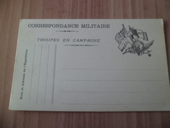 Carte En Franchise  Correspondance Militaire  Troupes En Campagne Drapeaux  RF  Neuve TB ! ! ! - Tarjetas De Franquicia Militare