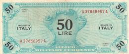 Banconota 50 Lire  Occupazione Militare Alleata 1943 - [ 3] Military Issues