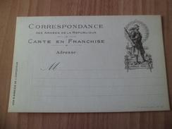 """Carte Franchise  Correspondance Armées De La République Illustrée Soldat """" Honneur Et Patrie """" Farge Lyon N° 50 Neuve TB - Marcophilie (Lettres)"""