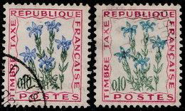 France Taxe 1964. ~ T 96 Par 2 - Gentiane. Fleur Des Champs - Taxes