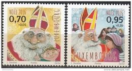 Luxembourg 2016 Noël Saint-Nicolas Et Enfants Neuf **