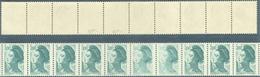 LIBERTE N° 2190 - VARIETE - IMPRESSION DEFECTUEUSE Dans BANDE De 10 SIGNE CALVES - Varieteiten: 1980-89 Postfris