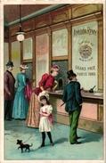 6 Cards C1900 Pub Amidon Remy Grand Prix Paris 1889 Train Station Lithography - Chromos