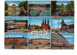 S2786 POSTCARD: Hessen > Wiesbaden - Mutiview + Auto Cars Voitures And Nice Timbre 1969 - Wiesbaden