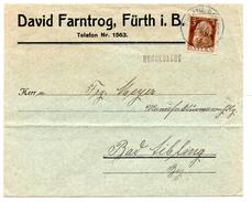 - ALLEMAGNE / BAVIERE - Lettre FÜERTH I. Bayern Pour BAD AIBLING 24 MRZ 1911 - 3 P. Brun Luitpold - A ETUDIER -