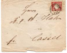 - ALLEMAGNE - Lettre BAHNHOF Pour CASSEL - 1 G. Rose Carminé Aigle En Relief - A ETUDIER - - Germany