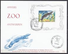 BLGIQUE - Cob - FDC BL 39 - Cote 4€ - Fonds Spécial De La Société Royale De Zoologie D'Anvers - Vie Marine