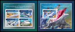 MALDIVES 2016 - Concorde. M/S + S/S Official Issue