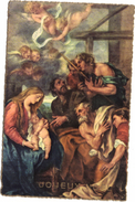 CPA JOYEUX NOEL / SCENE BIBLIQUE - Natale
