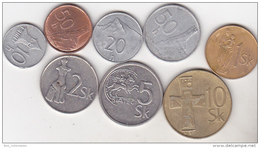 Slovakia - 8 Coins Set - Slovaquie