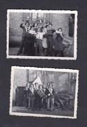 Photo Originale ( Lot De 2 ) Groupe De Conscrits à Schoenau (67) Conscription - Guerre, Militaire