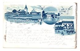 5135 SELFKANT - TÜDDERN, Gruss Aus... Lithographie, Gasthof Hastenbach, Haus Blumenthal, Kirche & Schule - Heinsberg