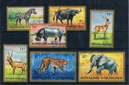 Burundi 1964 Tiere Mi.Nr. 102/08 Kpl. Satz Gest. - Burundi