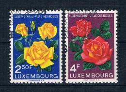 Luxemburg 1956 Blumen Mi.Nr. 549/50 Kpl. Satz Gest.