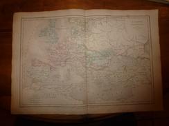 1861 Carte Géographique EUROPE  à L'époque De CHARLEMAGNE , Par Drioux Et Leroy; Gravure De Jenotte ,imprimerie Bréhier - Geographical Maps