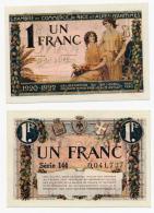 1914-1918 // C.D.C. // NICE / 1920-1922 // 1 Franc - Cámara De Comercio