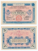 1914-1918 // C.D.C. // MOULINS & LAPALISSE-1916 // 1 Franc - Chambre De Commerce