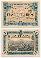 1914-1918 // C.D.C. // REGION ECONOMIQUE DU CENTRE // 1 Franc - Chambre De Commerce