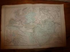 1861 Carte Géographique EMPIRE ARABES Et Démembrement De L'EMPIRE De CHARLEMAGNE) EMPIRE Des  MONGOLS;par Drioux-Leroy - Geographical Maps