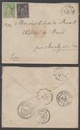 TYPE SAGE / 1900 AMBULANT - PERLE CACHETS MULTIPLES SUR LETTRE POUR MARCILLY SUR EURE (ref LE1009)