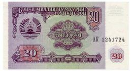 TADJIKISTAN 20 RUBLES 1994 Pick 4 Unc - Tajikistan
