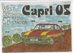 QSL Karte, CB Funk Station CAPRI 05, West Germany, - CB-Funk
